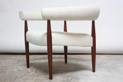 Nanna Dietzel Early Nanna and J rgen Ditzel Ring Chair in Suede and Teak - 717656