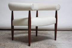 Nanna Dietzel Early Nanna and J rgen Ditzel Ring Chair in Suede and Teak - 717657