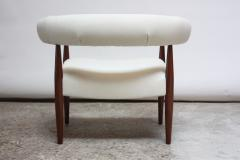 Nanna Dietzel Early Nanna and J rgen Ditzel Ring Chair in Suede and Teak - 717659