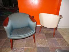 Nanna Ditzel Wonderful Pair Danish Scoop Lounge Chairs in the Style of Nanna Ditzel - 1557933