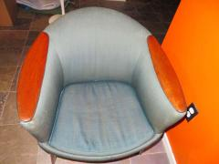 Nanna Ditzel Wonderful Pair Danish Scoop Lounge Chairs in the Style of Nanna Ditzel - 1557934