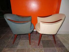 Nanna Ditzel Wonderful Pair Danish Scoop Lounge Chairs in the Style of Nanna Ditzel - 1557941