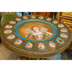 Napoleon III S vres style Gilt Bronze Mounted Onyx Table with Porcelain Plaques - 2034243