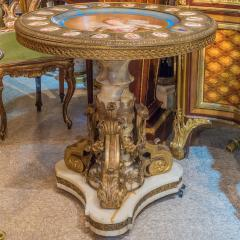 Napoleon III S vres style Gilt Bronze Mounted Onyx Table with Porcelain Plaques - 2034244