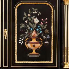 Napoleon III hardstone and ebonised wood bonheur du jour - 1516330