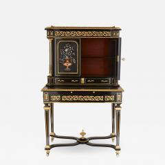Napoleon III hardstone and ebonised wood bonheur du jour - 1517911
