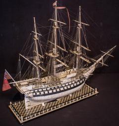 Napoleonic Prisoner of War Model of a 2nd Rate Ship of 72 Guns - 1508715