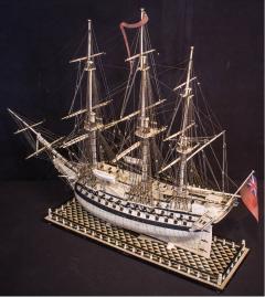 Napoleonic Prisoner of War Model of a 2nd Rate Ship of 72 Guns - 1508724