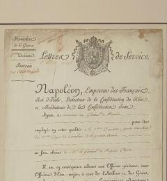 Napoleonic Wars Draft Notice France Circa 1813 - 1637761