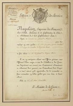 Napoleonic Wars Draft Notice France Circa 1813 - 1637762