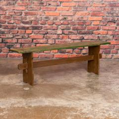 Narrow Antique Painted Pine Bench - 1060283