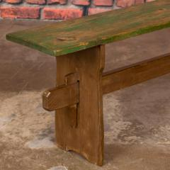 Narrow Antique Painted Pine Bench - 1060284