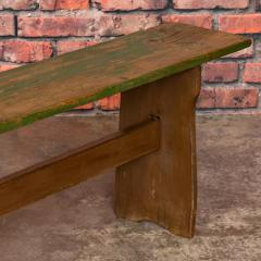 Narrow Antique Painted Pine Bench - 1060285