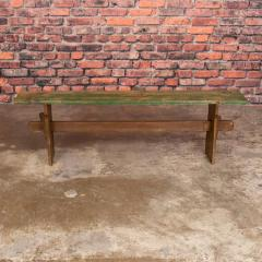 Narrow Antique Painted Pine Bench - 1060286