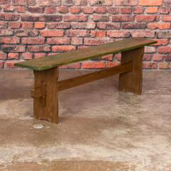 Narrow Antique Painted Pine Bench - 1060287