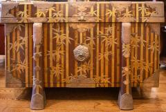 Nashiji Lacquer Armor Trunk with Bamboo Design - 1905778