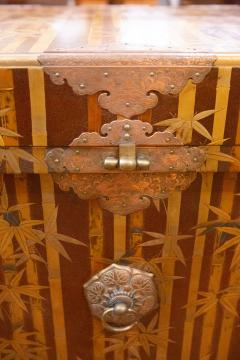Nashiji Lacquer Armor Trunk with Bamboo Design - 1905792