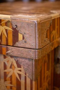 Nashiji Lacquer Armor Trunk with Bamboo Design - 1905802