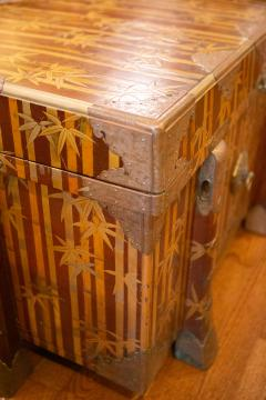 Nashiji Lacquer Armor Trunk with Bamboo Design - 1905803