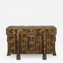 Nashiji Lacquer Armor Trunk with Bamboo Design - 1907976