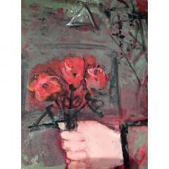 Nasser Ovissi Nasser Ovissi Iranian Born 1934 Queen Atosa Gold Oil on Canvas Painting - 1130466