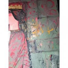 Nasser Ovissi Nasser Ovissi Iranian Born 1934 Queen Atosa Gold Oil on Canvas Painting - 1130470