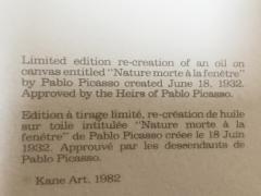 Nature Morte a la Fenetre by Pablo Picasso Lithograph by Marina Picasso - 1740110