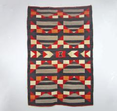 Navajo Dine Transitional blanket with moki and traditional designs - 1662674