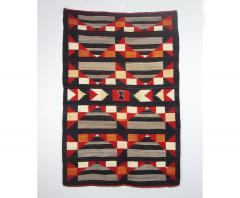 Navajo Dine Transitional blanket with moki and traditional designs - 1662675