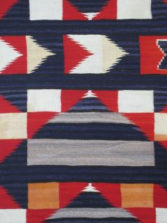 Navajo Dine Transitional blanket with moki and traditional designs - 1662676