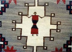Navajo Dine pictorial rug with Spiderwoman - 1320853