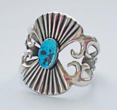 Navajo sandcast bracelet - 1319231