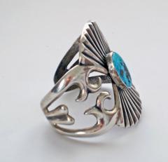 Navajo sandcast bracelet - 1319233