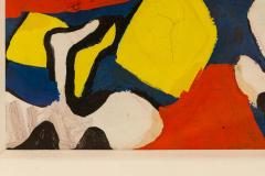 Nell Blaine Nell Blaine Abstract Gouache on Paper USA 1940s - 1631303