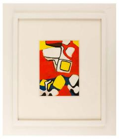 Nell Blaine Nell Blaine Abstract Gouache on Paper USA 1940s - 1631304
