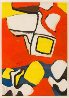 Nell Blaine Nell Blaine Abstract Gouache on Paper USA 1940s - 1631306