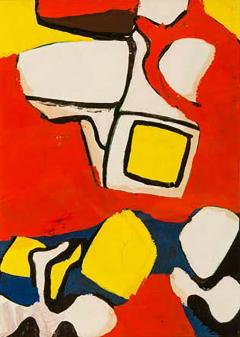 Nell Blaine Nell Blaine Abstract Gouache on Paper USA 1940s - 1636190