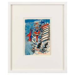 Nell Blaine Nell Blaine Merry Christmas Gouache on Paper - 1909393
