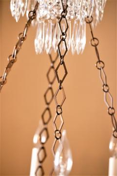 Neoclassic Style Brass and Crystal Chandelier - 1064050