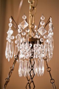 Neoclassic Style Brass and Crystal Chandelier - 1064051