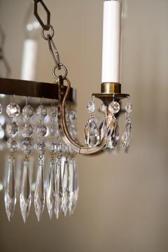 Neoclassic Style Brass and Crystal Chandelier - 1064053