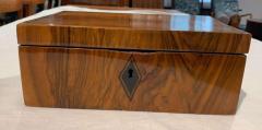 Neoclassical Biedermeier Casket Box Walnut Ebony South Germany circa 1820 - 1612398