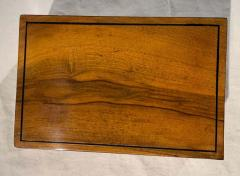 Neoclassical Biedermeier Casket Box Walnut Ebony South Germany circa 1820 - 1612399
