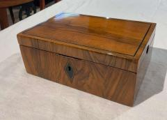 Neoclassical Biedermeier Casket Box Walnut Ebony South Germany circa 1820 - 1612400