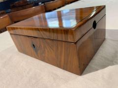 Neoclassical Biedermeier Casket Box Walnut Ebony South Germany circa 1820 - 1612401