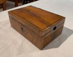 Neoclassical Biedermeier Casket Box Walnut Ebony South Germany circa 1820 - 1612402