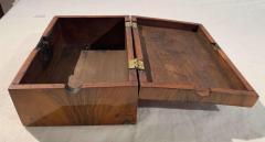 Neoclassical Biedermeier Casket Box Walnut Ebony South Germany circa 1820 - 1612411