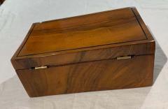 Neoclassical Biedermeier Casket Box Walnut Ebony South Germany circa 1820 - 1612412