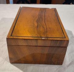Neoclassical Biedermeier Casket Box Walnut Ebony South Germany circa 1820 - 1612414
