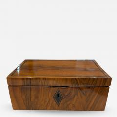 Neoclassical Biedermeier Casket Box Walnut Ebony South Germany circa 1820 - 1614855